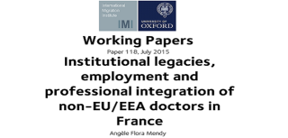 Latest working paper examines the welcome of non eu eea doctors in france