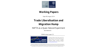 Trade liberalisation causes 2018migration hump2019 in mexico shows new demig paper