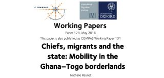 New working paper examines influence of borderland chiefs on african mobility