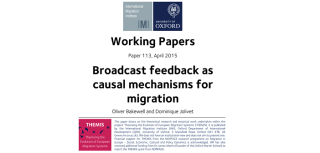 New paper examines role of migration narratives in shaping attitudes towards migration