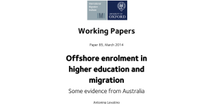 Higher education and migration for australia