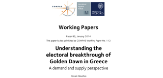 Understanding the political success of the golden dawn in greece