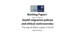 Latest working paper considers migration policies and ethical controversies surrounding recruitment of african nurses in the uk