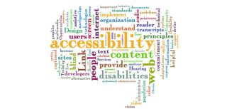 Migration disability and plain language_web accessibility word cloud
