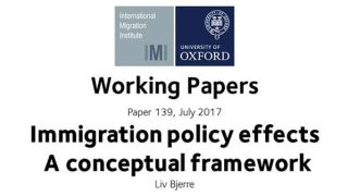 Working Paper: Immigration policy effects – A conceptual framework