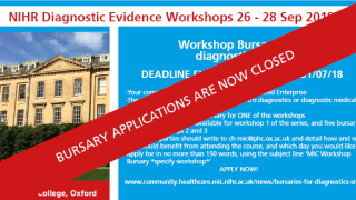 Diagnostic Evidence Workshops - bursary applications are now CLOSED