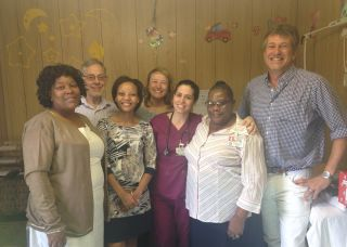 Baby cure study team at stanger hospital clinic