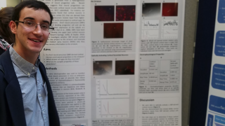 Nicholas Pasternack presents poster at the 8th annual Oxford Neuroscience Symposium