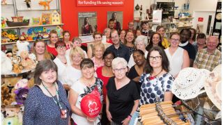 Professor Kim Dora opens new BHF shop in Aylesbury