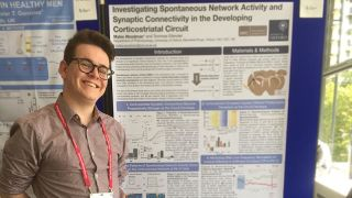 Myles presents his work at Europhysiology 2018 at QEII Centre London.