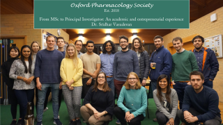 Graduate students announce formation of Oxford Pharmacology Society