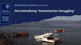 New Research in Brief on decriminalising 'humanitarian smuggling'