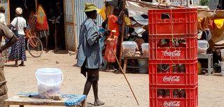 Market street in kalobeyei kenya