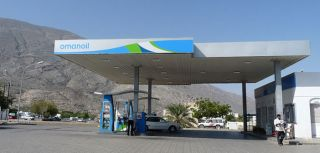Petrol station in northern Oman