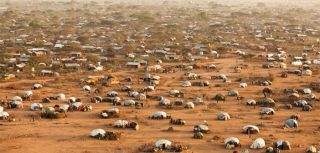 An aerial view of Dadaab refugee camp, Kenya