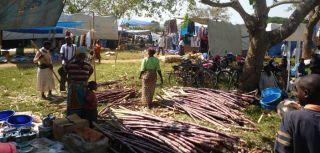 Refugee traders at Nakivale refugee settlement, Uganda.