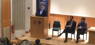 Filippo Grandi speaks during the opening plenary of the conference