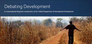 New departmental blog launched debating development