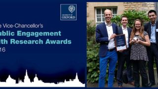 Alexander Betts and the HIP team win Vice-Chancellor's Award for Public Engagement with Research