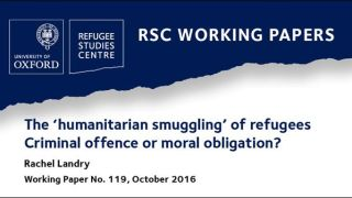 New working paper asks 'should human smugglers be brought to justice, or are they bringing about justice?'