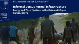 New Research in Brief on informal vs formal infrastructure in Kakuma refugee camps