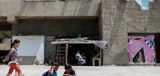 Housing for Syrian refugees, who are being supported by CARE International Lebanon.