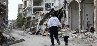 Destruction in homs syria