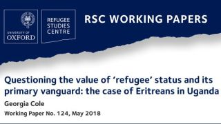 New RSC Working Paper asks what is the perceived 'value' of refugee status?