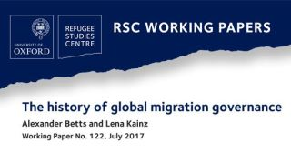 New RSC working paper on the history of global migration governance
