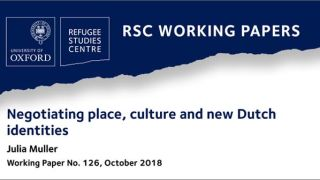 'Negotiating place, culture and new Dutch identities', a new RSC Working Paper
