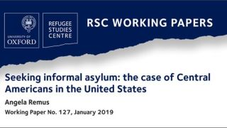 New RSC working paper on Central Americans seeking 'informal asylum' in the United States