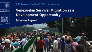 New research brief on venezuelan survival migration as a development opportunity