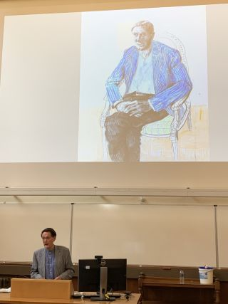 Feschrift lecture photo - Blakemore painting