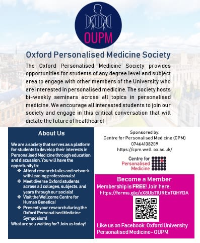 Oxford Personalised Medicine Society