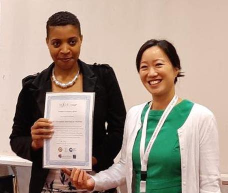 Grace Le with Dr Fortunate Mudede, winner of the NDORMS / COSECSA Oxford Orthopaedic Link travel grant to attend the Women in Surgery Africa annual meeting