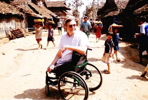 Gil Loescher in the Mae La refugee camps, Thailand 2006