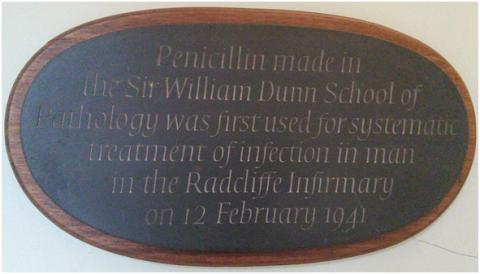 Penicillin plaque - Jeffrey Aronson