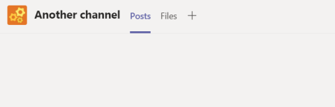 Screenshot showing the default channel options of Posts and Files