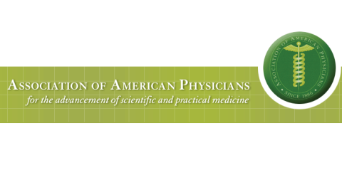 The logo of the American Association of Physicians with the strapline