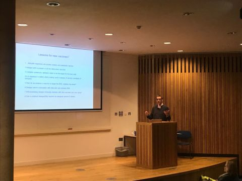 Delegate presenting at symposium