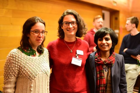 Symposium organising committee- Dr Mafalda Santos, Dr Lise Chauveau and Dr Koshika Yadava (not pictured: Dr Christina Rode)