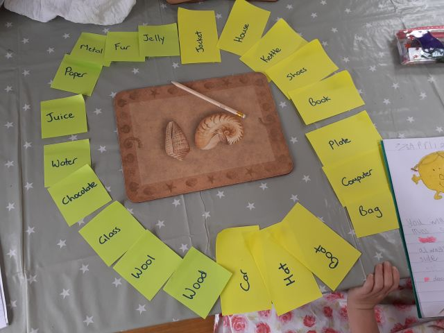 Thanks to Cushla for sending me a picture of the spinner they created to play chocolate saucepan