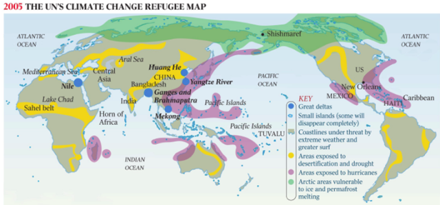 Map published on the website of the United Nations Environment Programme (UNEP) in 2005.