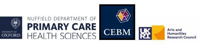 Combined logos - NDPCHS, CEBM, UKRI