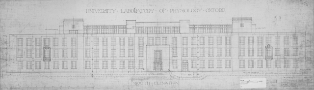 Pencil sketching showing South elevation