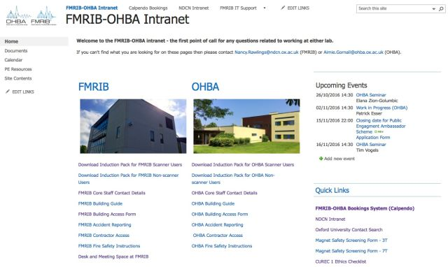 FMRIB-OHBA Intranet