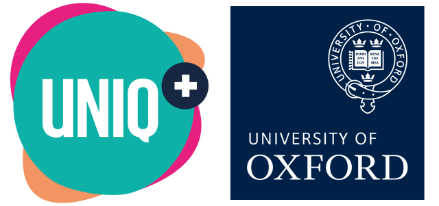UNIQ+ Logo and The University of Oxford Logo