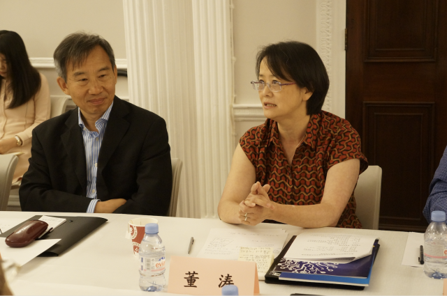 Professor Dong and member of Chinese Embassy at meeting