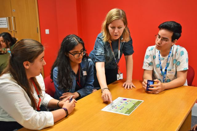 Students learn about the haematopoietic lineage before playing a haematopoiesis-themed 'go fish' card game.