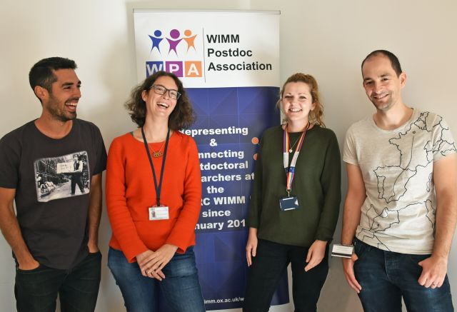 Some of the members of the MRC WIMM Postdoc Association Committee 2019